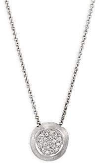 Marco Bicego Delicati White Gold Pendant Necklace With Diamonds