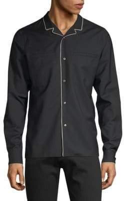 Valentino Notch Collar Button-Down Shirt