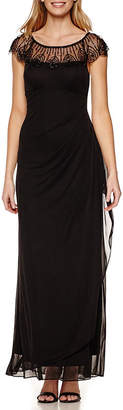 Dj Jaz DJ Jaz Cap-Sleeve Beaded Formal Gown