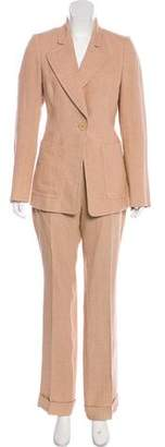 Akris Linen High-Rise Pantsuit