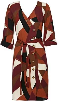 Wallis Rust Colour Block Shirt Dress