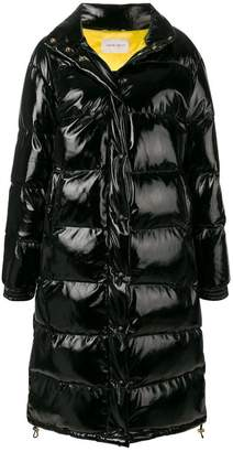 Alberta Ferretti oversized embroidered logo puffer jacket