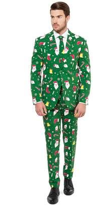 Opposuits Men's OppoSuits Slim-Fit Santaboss Novelty Suit & Tie Set