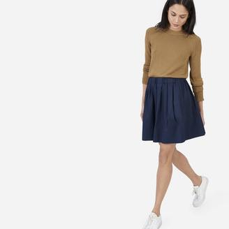 The Cotton Poplin Pleated Skirt