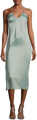 Cushnie et Ochs Strappy Satin Pencil Dress