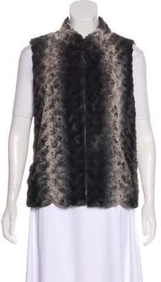 Adrienne Vittadini Faux Fur Stand Collar Vest