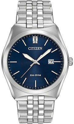 Citizen Corso Eco-Drive Blue Dial Stainless Steel Bracelet Watch