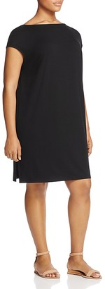 Eileen Fisher Plus Bateau Neck Dress $198 thestylecure.com