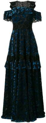Talbot Runhof lace embellished gown