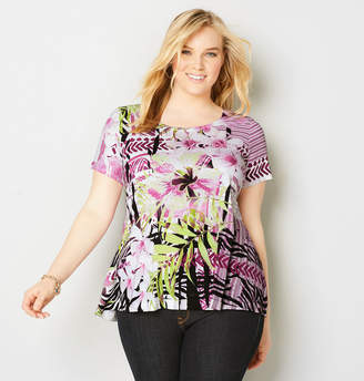 Avenue Abstract Print Swing Top