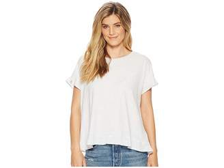 Mod-o-doc Soft Spun Jersey Crossover Back Top w/ Flounce