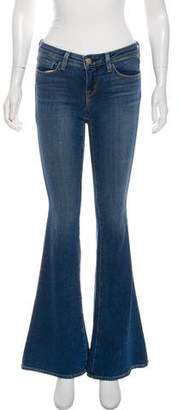 L'Agence Low-Rise Wide-Leg Jeans