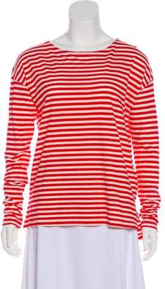 Current/Elliott Stripe Print Knit Top