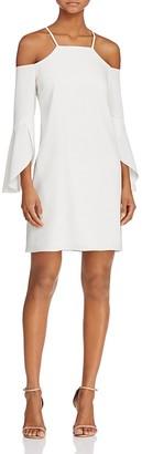 Laundry by Shelli Segal Flutter-Sleeve Cold-Shoulder Dress $225 thestylecure.com
