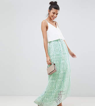 Asos Tall DESIGN Tall lace maxi prom skirt