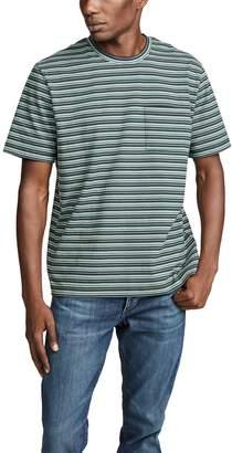 Vince Multi Stripe Short Sleeve Pocket Tee