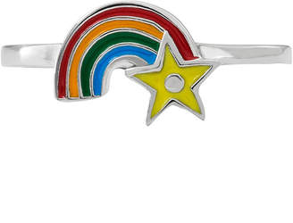Hallmark Kids Sterling Silver Enamel Rainbow Ring
