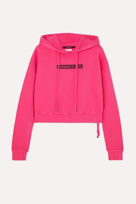 Ksubi Day Dreams Cropped Printed Cotton-jersey Hoodie - Pink
