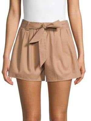 Lucca Couture Belted Cotton Shorts