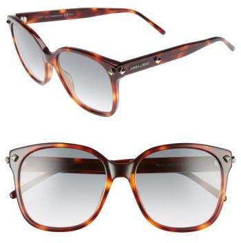 Jimmy ChooWomen's Jimmy Choo Demas 56Mm Sunglasses - Havana
