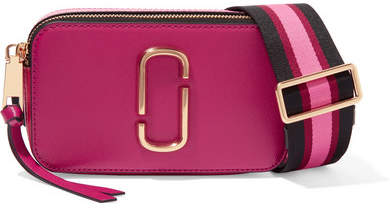 Marc Jacobs - Snapshot Textured-leather Shoulder Bag - Fuchsia