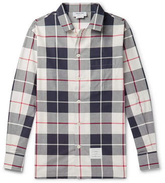 Thom Browne Checked Cotton-Poplin Shirt