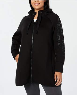 Calvin Klein Plus Size Hooded Walker Jacket
