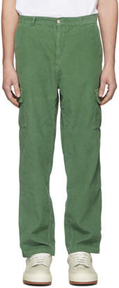 Carne Bollente Green Corduroy James Bande Cargo Pants