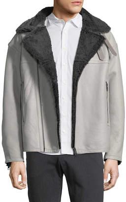 J. Lindeberg Ground 77 Shearling Moto Jacket