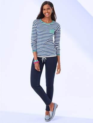 Talbots Resort Stripe Crewneck Sweater