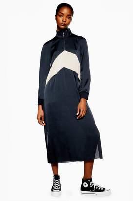 Topshop Chevron Colour Block Dress by Boutique