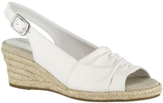Easy Street Shoes Slingback Wedge Espadrilles - Kindly
