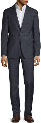 Calvin Klein Windowpane Wool-Blend Suit