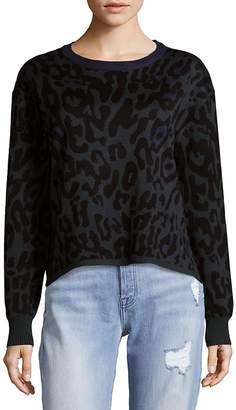 John & Jenn John + Jenn Women's Leopard Sweatshirt