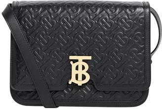 Burberry Leather Logo-Embossed Shoulder Bag