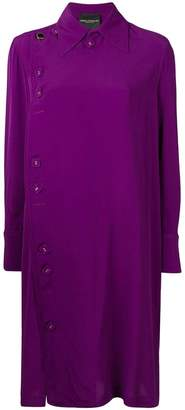 Cavallini Erika off-centre fastening shirt dress