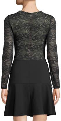Ali & Jay Larc Long-Sleeve Contrast-Lace Dress