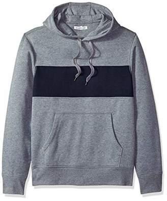 Amazon Essentials Men's Hooded Fleece Chest Stripe Sweatshirt