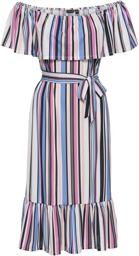 BODYFLIRT Carmen-Kleid mit Gürtel