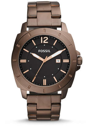 Fossil Privateer Sport Three-Hand Date Brown Stainless Steel Watch