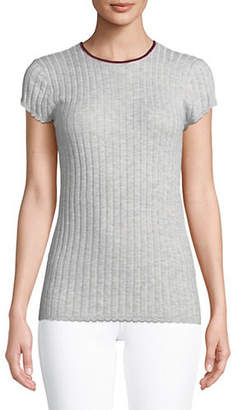 Joie Filana Ribbed Wool-Blend Top