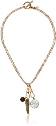 Lucky Brand Wing Charm Necklace, 18""