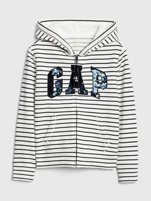 b6936376b Gap Kids Logo Flippy Sequin Hoodie Sweatshirt