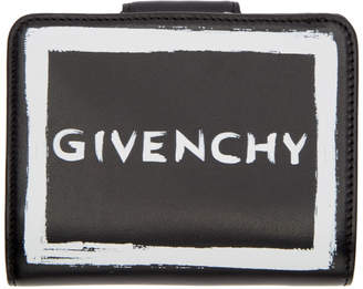 Givenchy Black Graffiti Compact Wallet