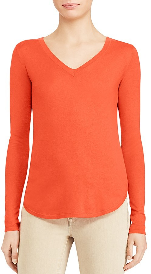 Lauren Ralph LaurenLauren Ralph Lauren V-Neck High Low Sweater