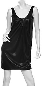 Diane von Furstenberg Lesley Draped Lame Tank Dress