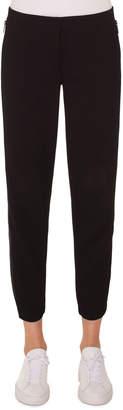 Akris Punto Milla High-Waist Straight-Leg Ankle Wool Pants
