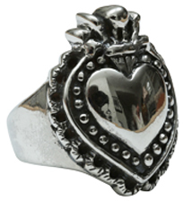 Femme Metale Jewelry Milagro Heart Ring