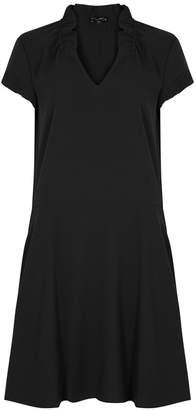 Emporio Armani Black Ruched Crepe Dress
