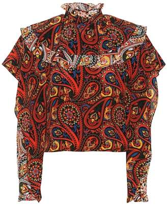 J.W.Anderson Paisley-printed silk blouse